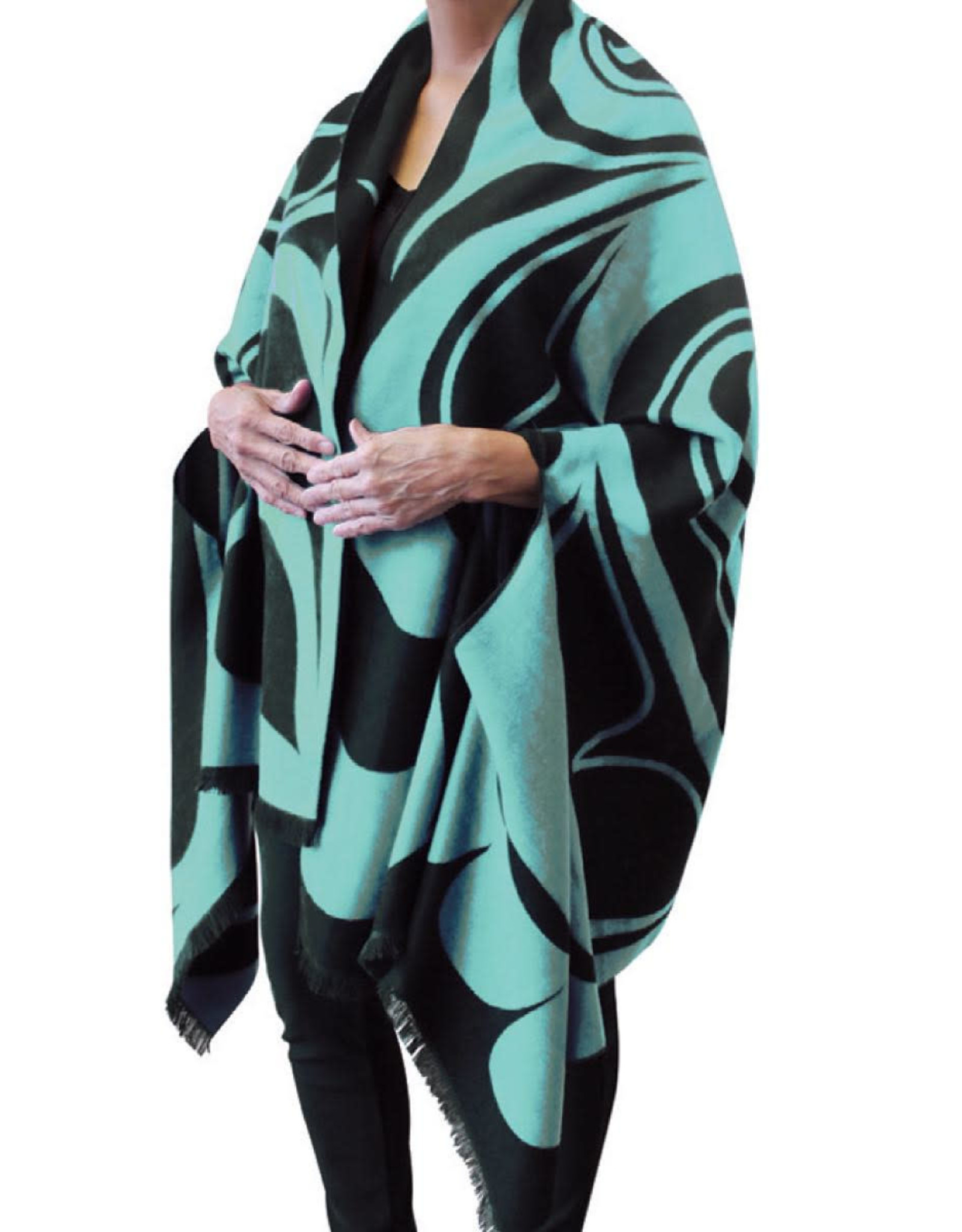 Reversible Fashion Cape - Eagle by Roger Smith