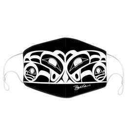 Reusable/Adjustable adult face mask with filter pocket - Raven