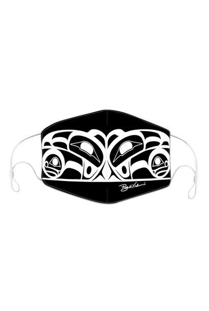 Reusable/Adjustable adult face mask with filter pocket - Raven