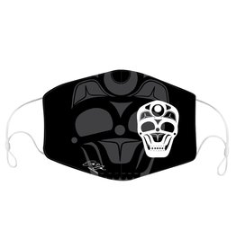 Reusable/Adjustable adult  Face Mask with filter pocket-Skull by James Johnson
