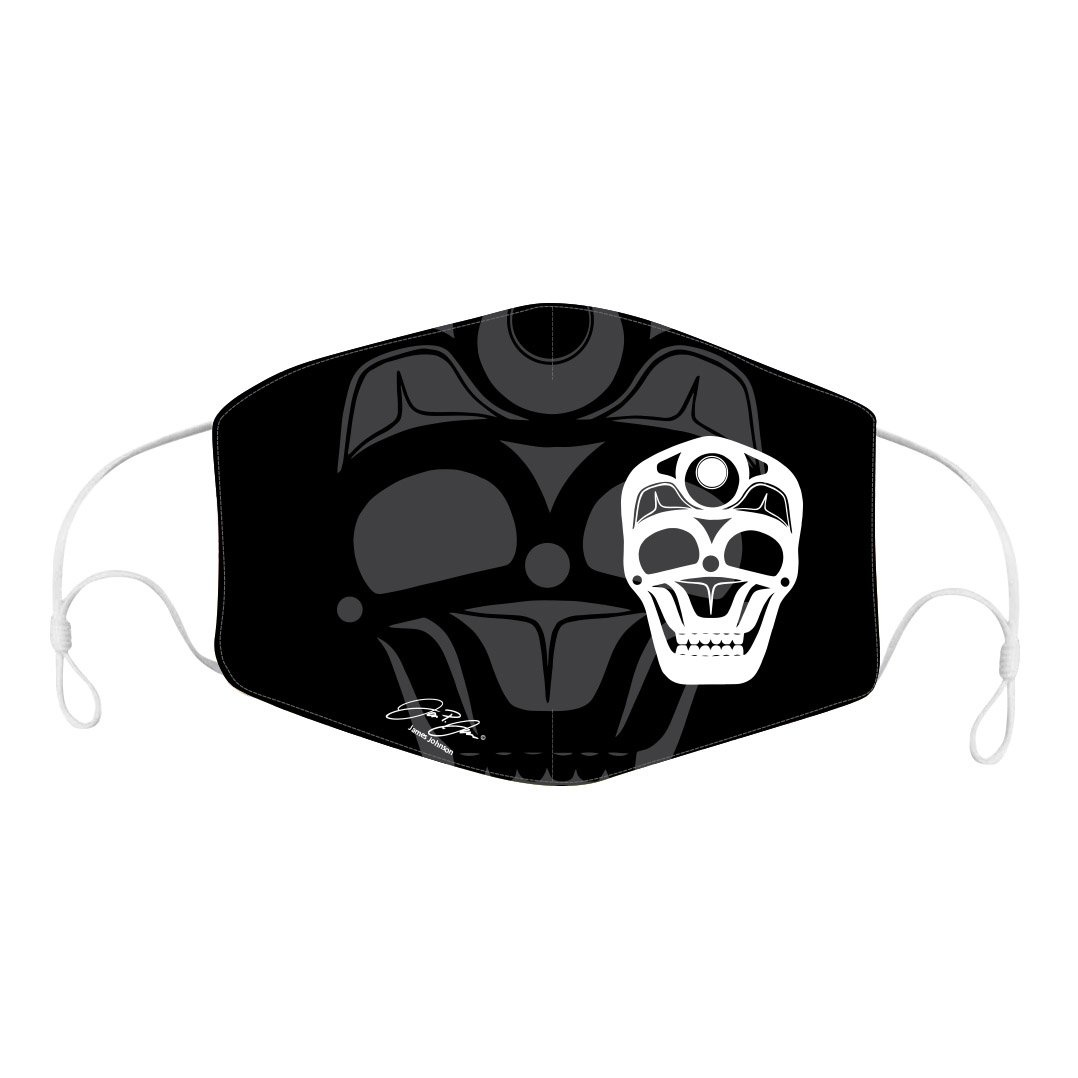 Reusable/Adjustable adult  Face Mask with filter pocket-Skull by James Johnson-1