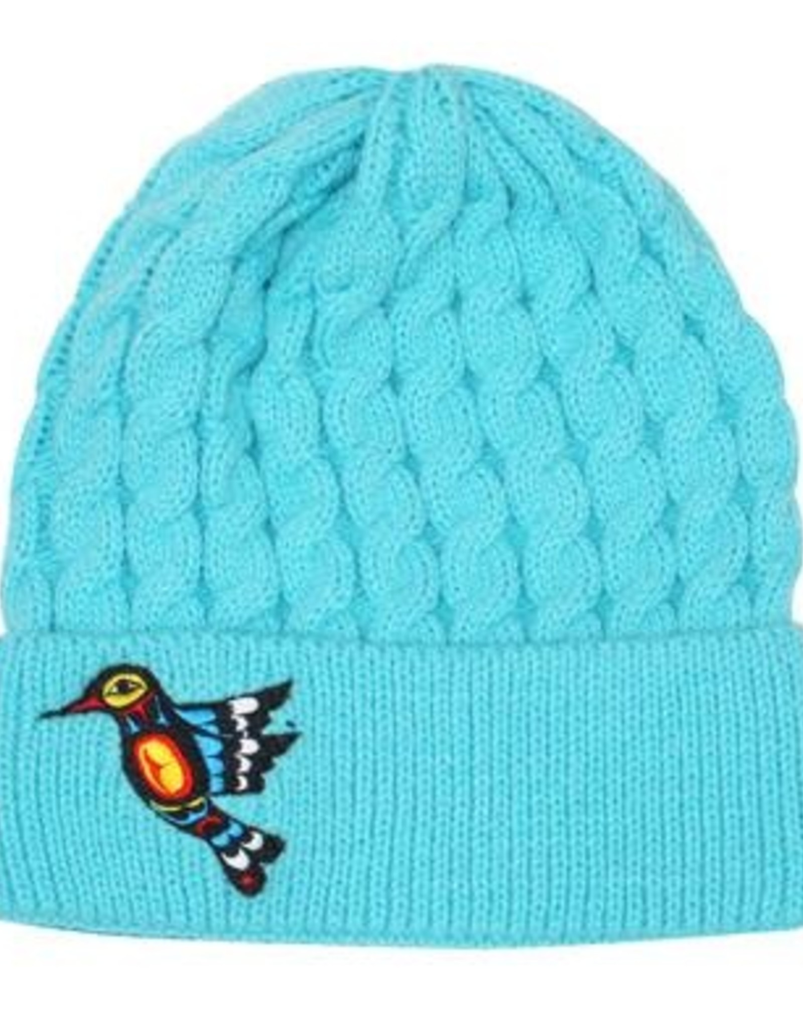 Embroidered Knitted Hat-Hummingbird by Francis Dick