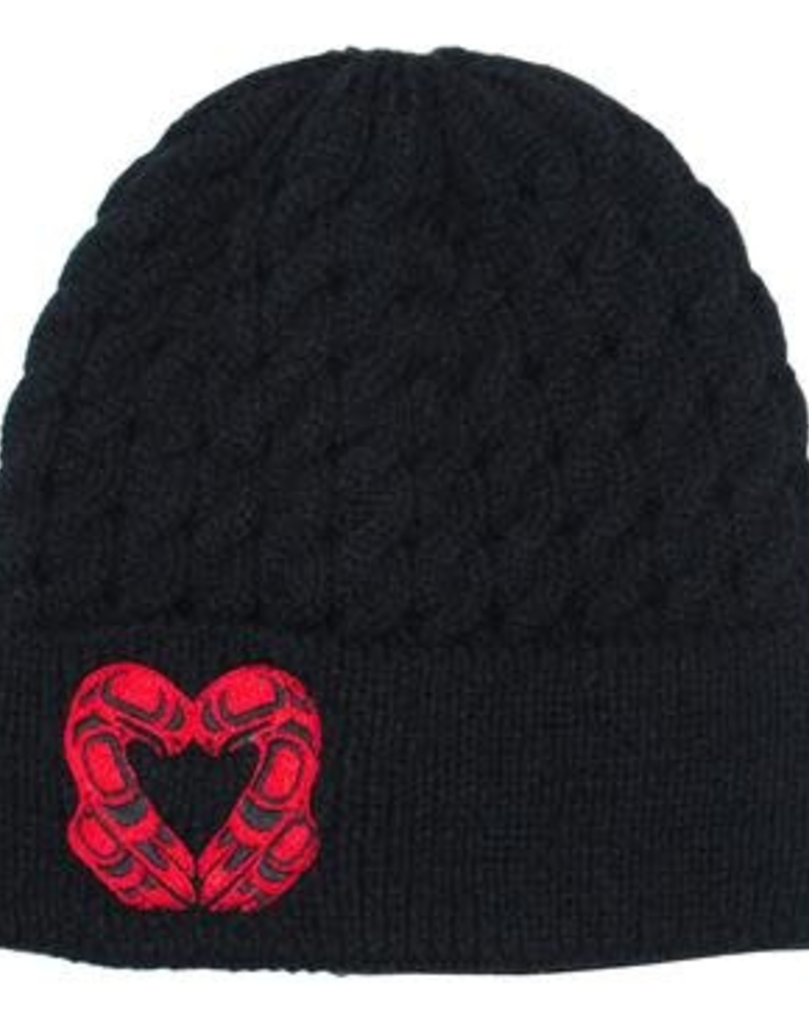 Embroidered Knitted Hat- Eagle Heart by Roy Henry Vickers