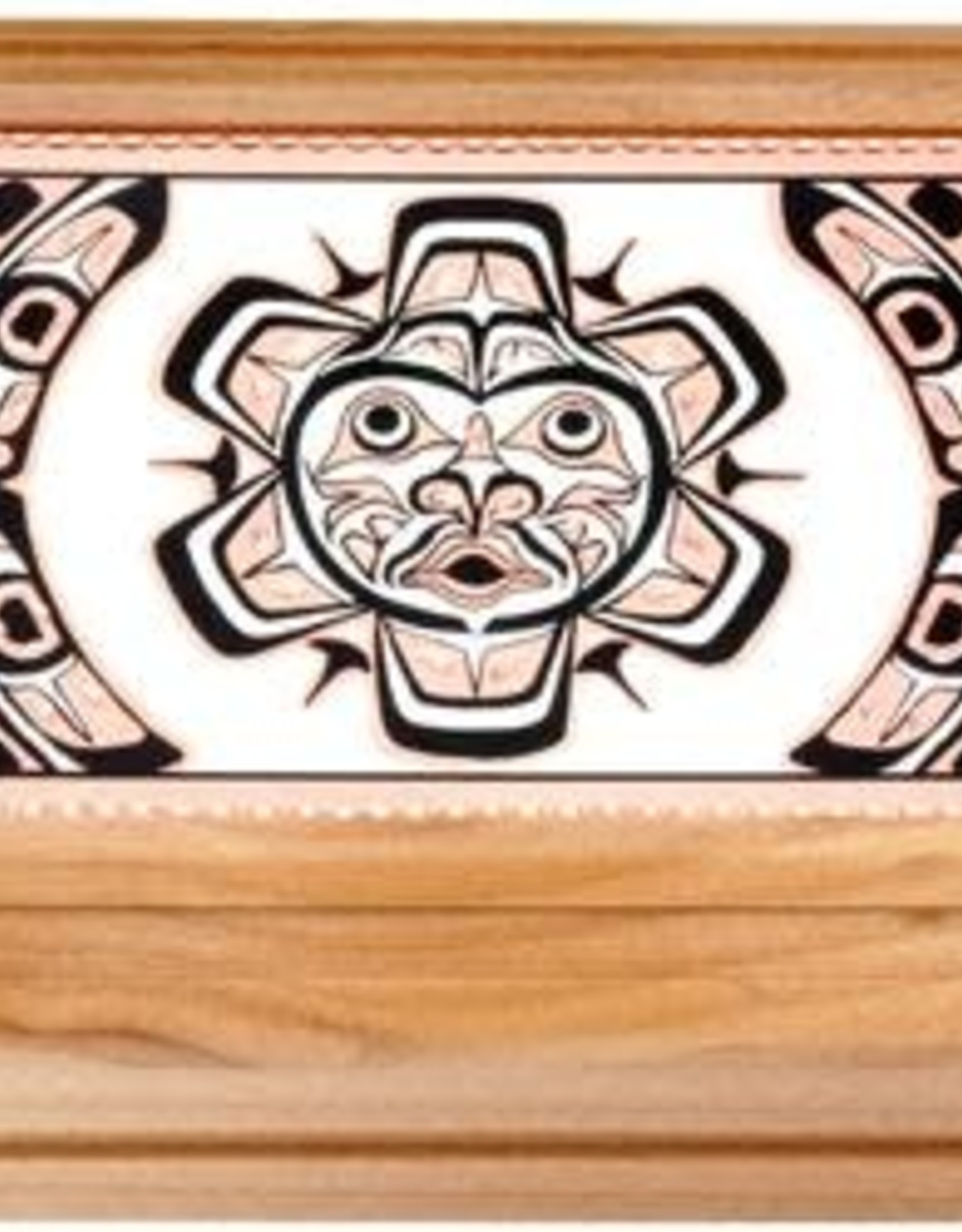 Native Sun Rectangular Wooden Box with Copper inset