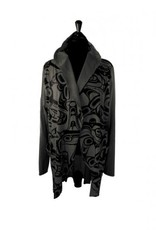 Kelly Robinson Whale All Over Print Jacket (Charcoal, Medium/Large)