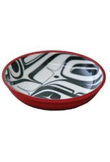 KR Raven Small Dish Red/Black Kelly Robinson