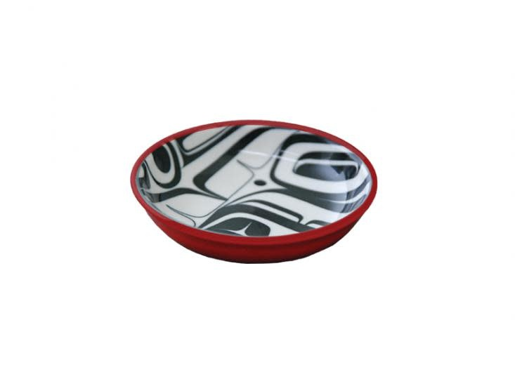 KR Raven Small Dish Red/Black Kelly Robinson-1
