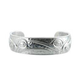 "Silver-Pewter Hummingbird Bracelet (6.5"") Kelly Robinson"