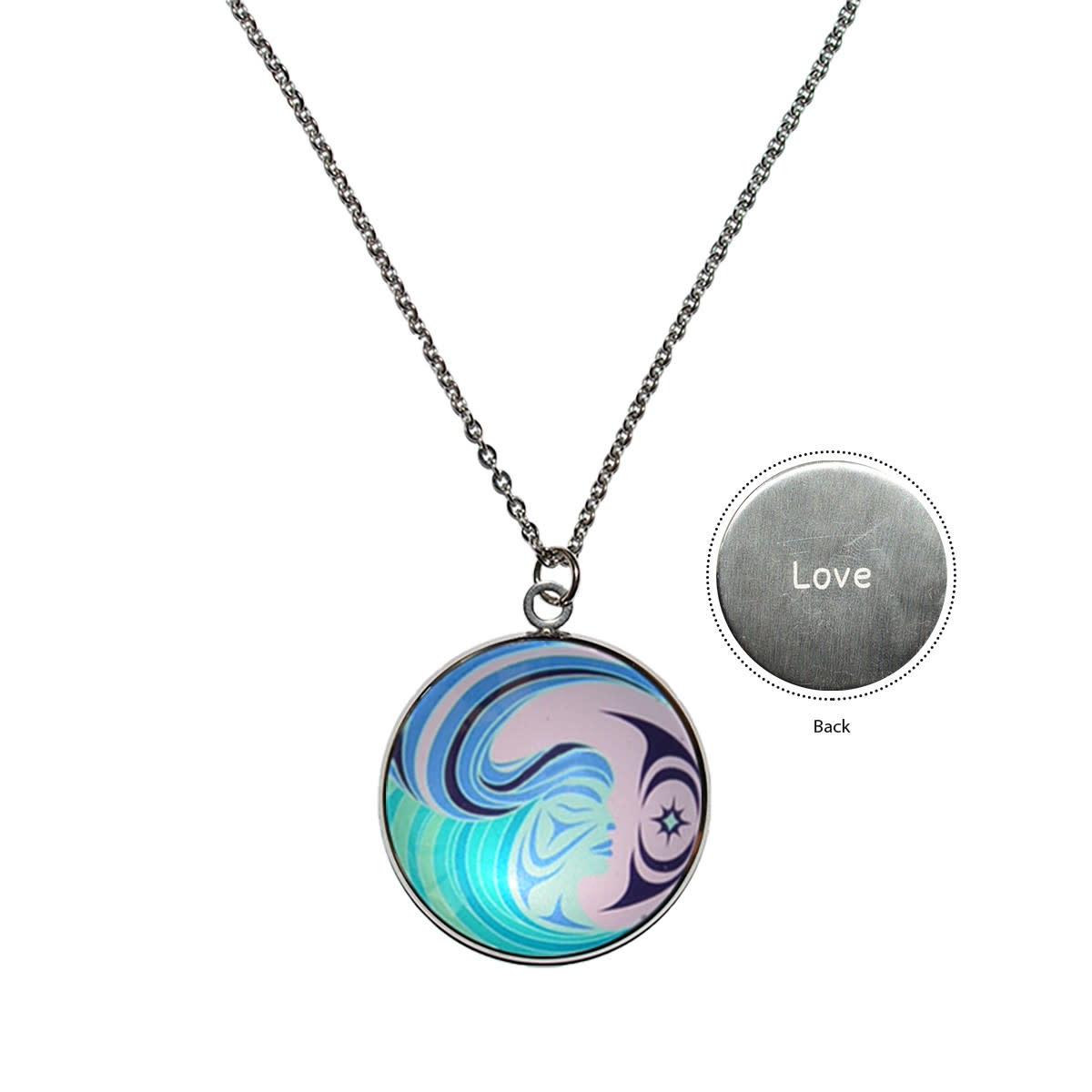 Circle Charm Necklace-Matriarchal Power-Simone Diamond-1