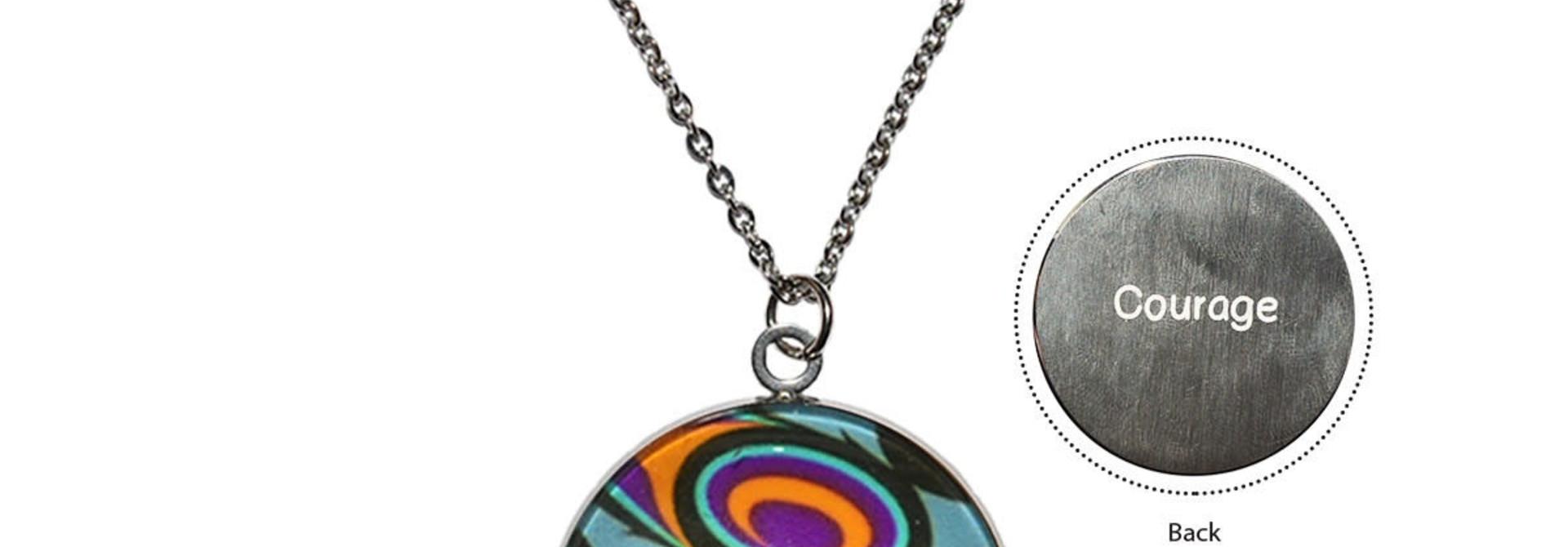 Urban Wolf Charm Necklace by Maynard Johnny