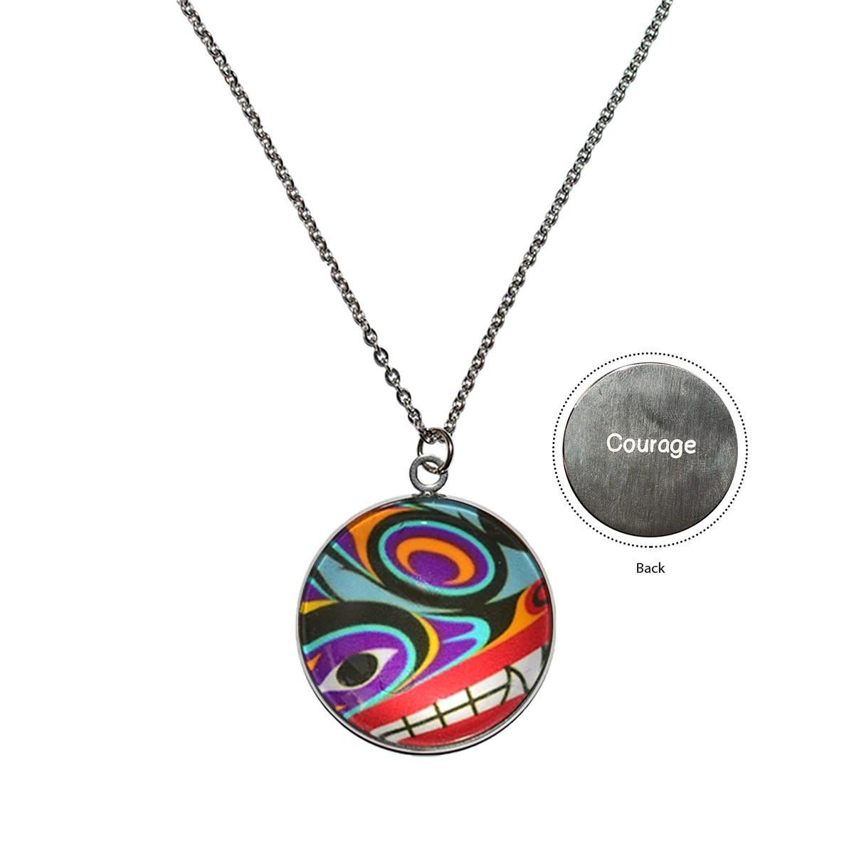 Urban Wolf Charm Necklace by Maynard Johnny-1