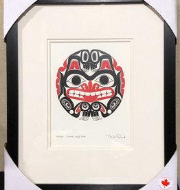 Matted & Framed art card -  Xhuwaji- Haida Grizzly by Bill Reid