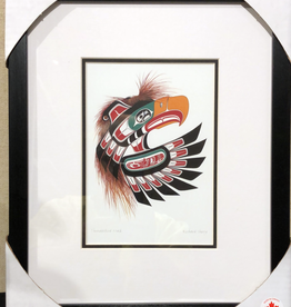 Framed art card  -Thunderbird Mask by Richard Shorty