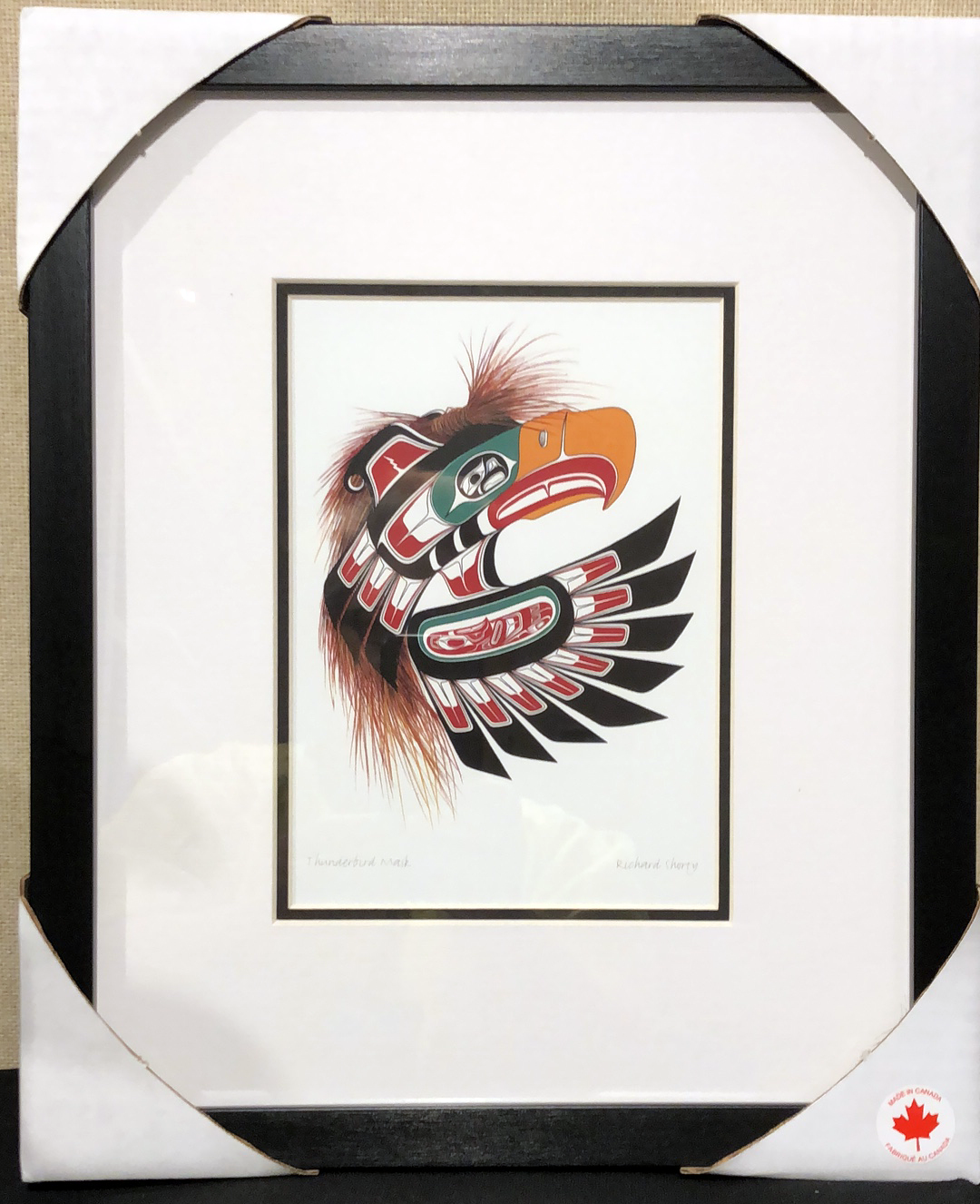 Framed art card  -Thunderbird Mask by Richard Shorty-1