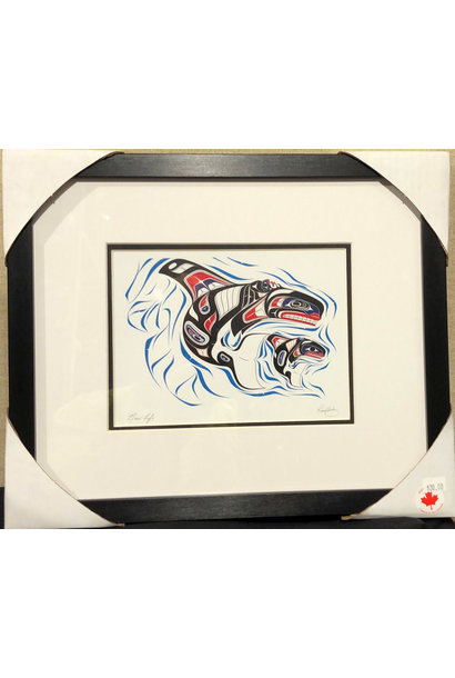 Matted & Framed Art Card - New Life by Richard Shorty