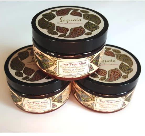 Sequoia Tea Tree Mint Face Scrub -5oz-1