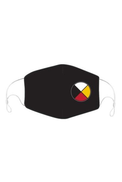 Reusable/Adjustable Face Mask with filter pocket -Medicine Wheel