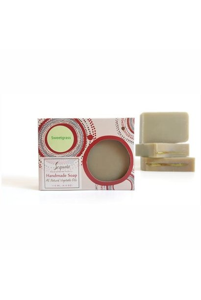 Sequoia Handmade soap 4oz - Sweetgrass