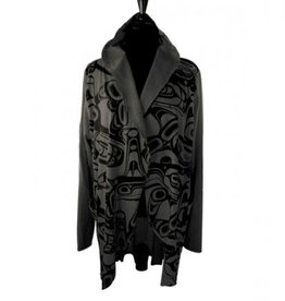 All Over Jacket Whale  Kelly Robinson charcoal L/XL