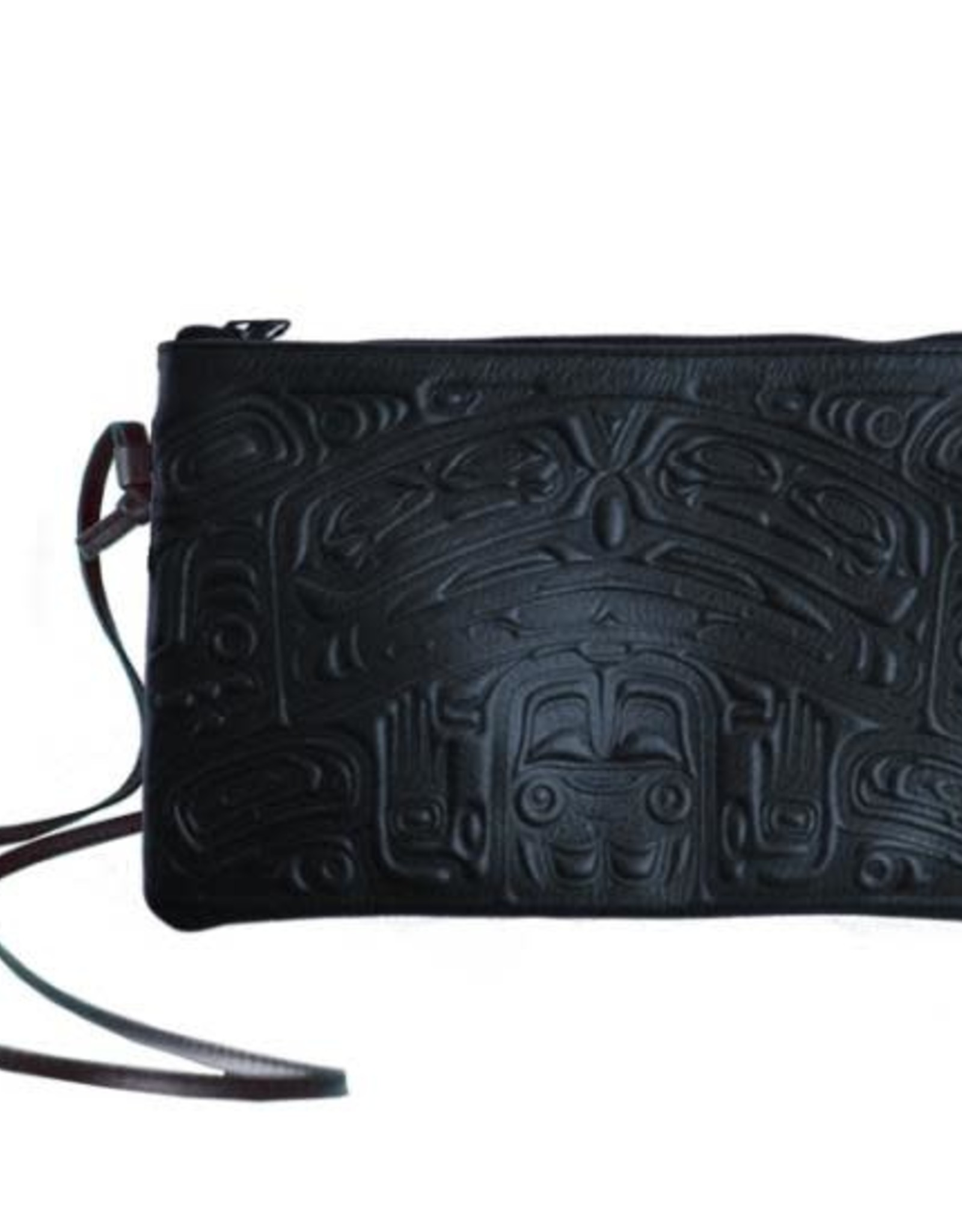 Crossbody bag Navy Leather-Bear Box