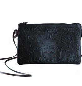 Crossbody bag Navy Leather-Bear Box