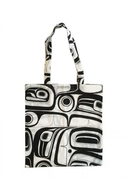 Cotton Shopping Bag (black) -Raven by Kelly Robinson