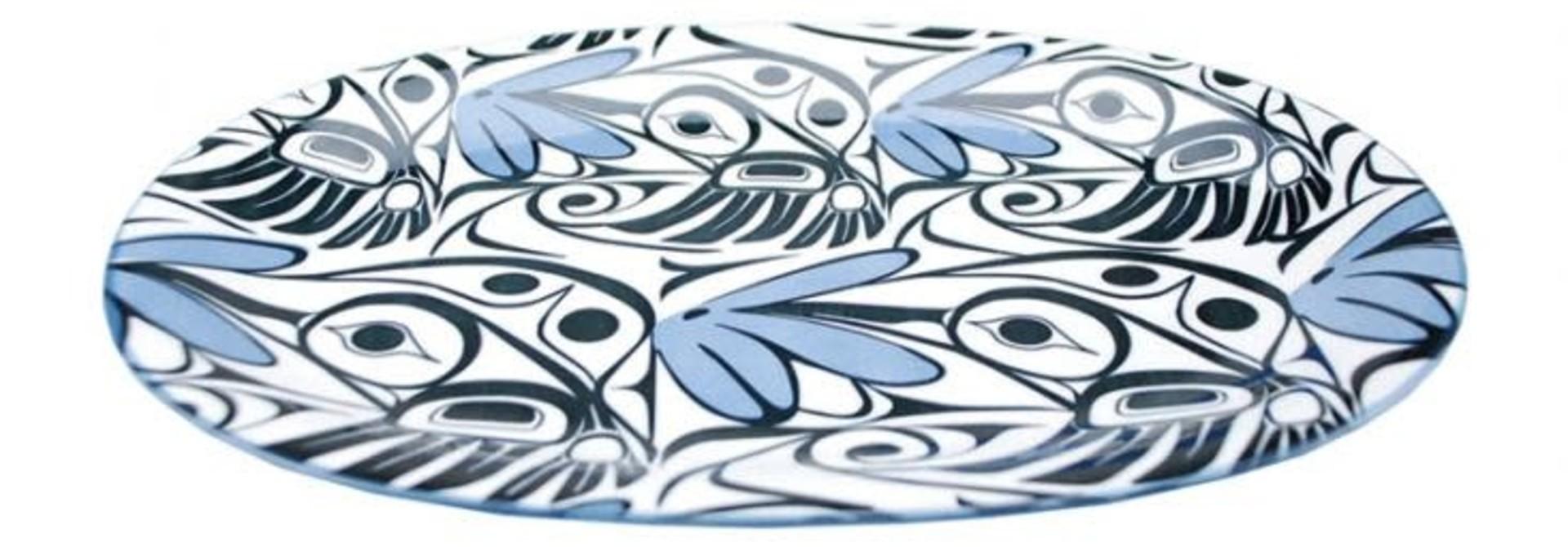 Large Oval Platter - Hummingbird 12'