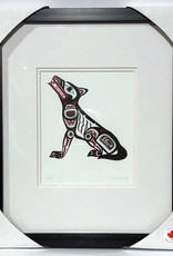 Matted & Framed Art cards- Wolf by Clarence Mills