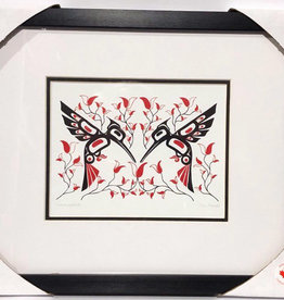 Matted & Framed art cards-Hummingbirds by Eric Parnell