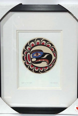 Matted & Framed art cards -Eagle in Mid Flight by Sean Whonnock
