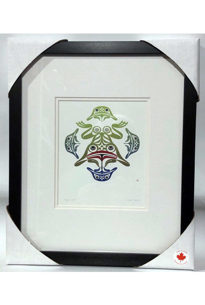 Matted & Framed art cards- Frog Circle by Mark Preston