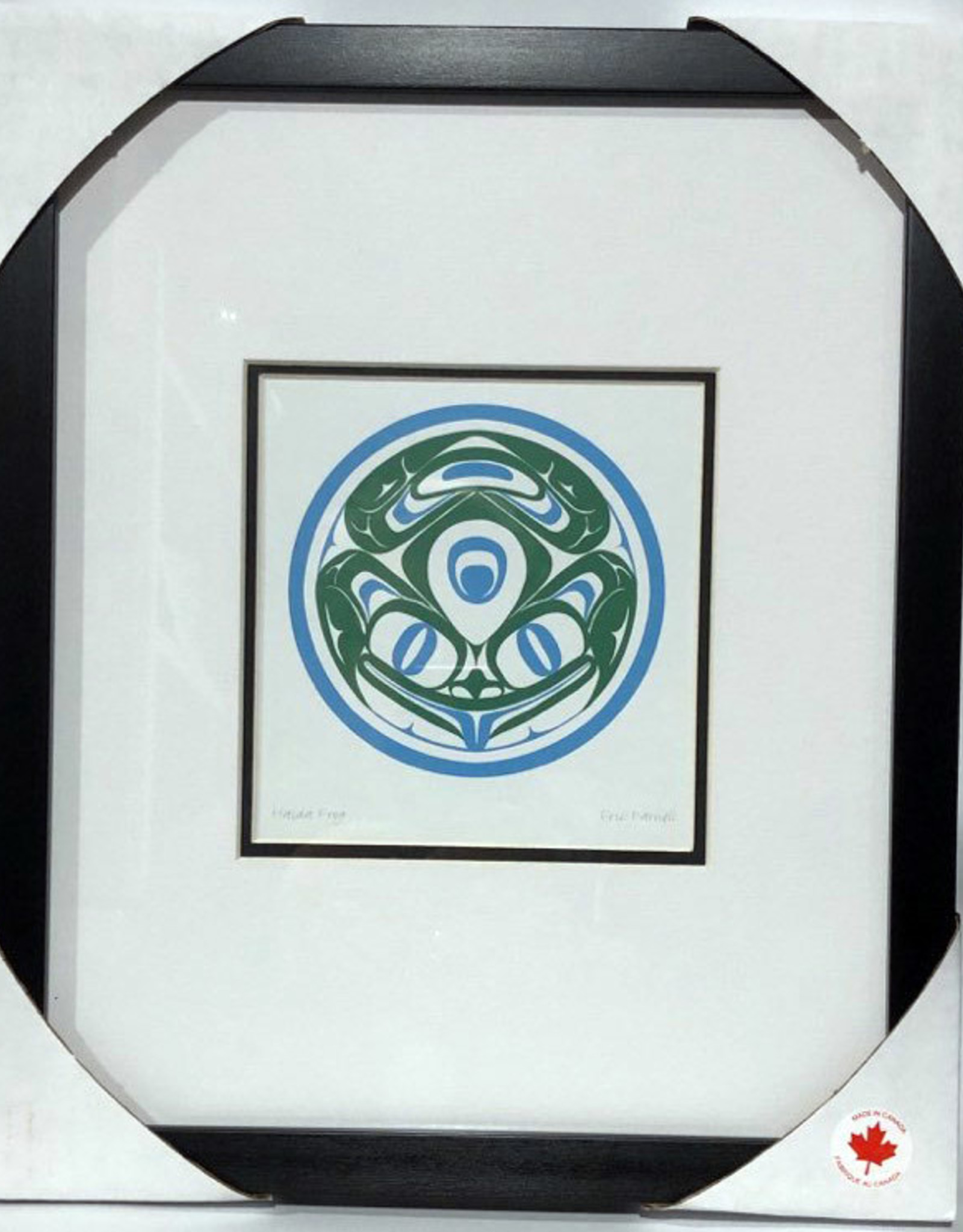 Matted & Framed art cards -Haida Frog by Eric Parnell
