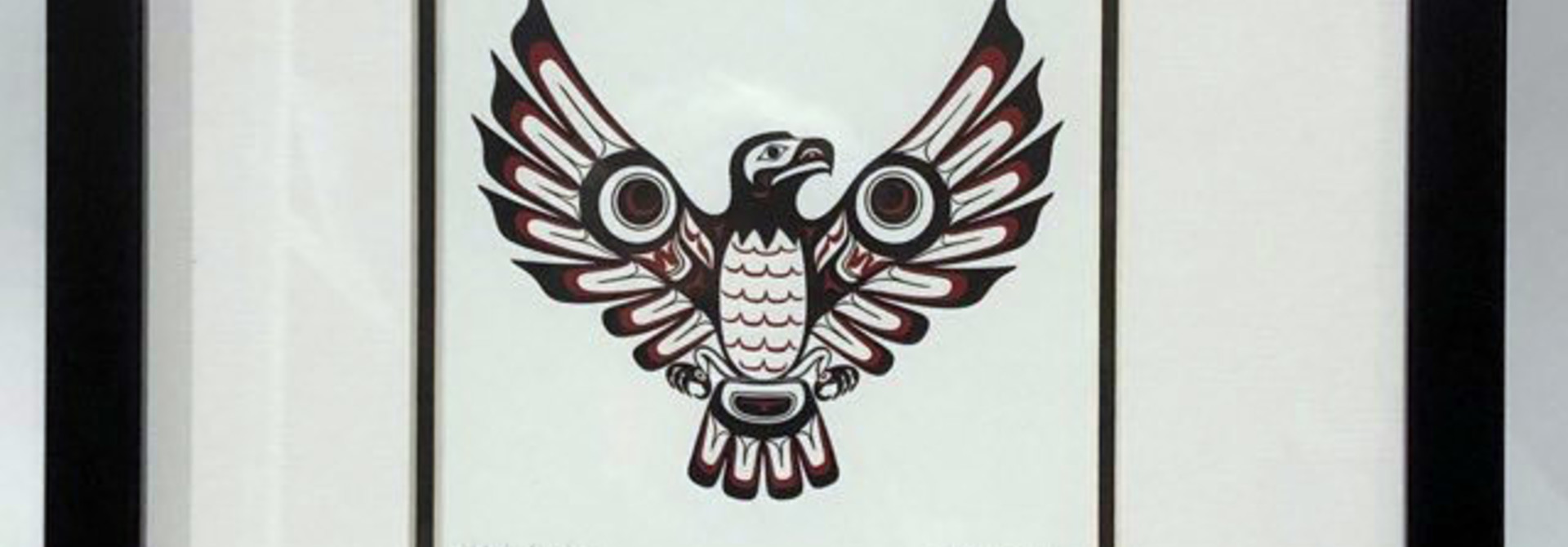 Matted & Framed art card - Haida Eagle ll by Clarence Mills