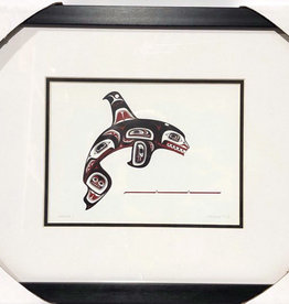 Matted & Framed art card -Skaana ll by Clarence Mills