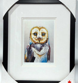 Matted & Framed art cards -Barn Owl by Micqaela Jones