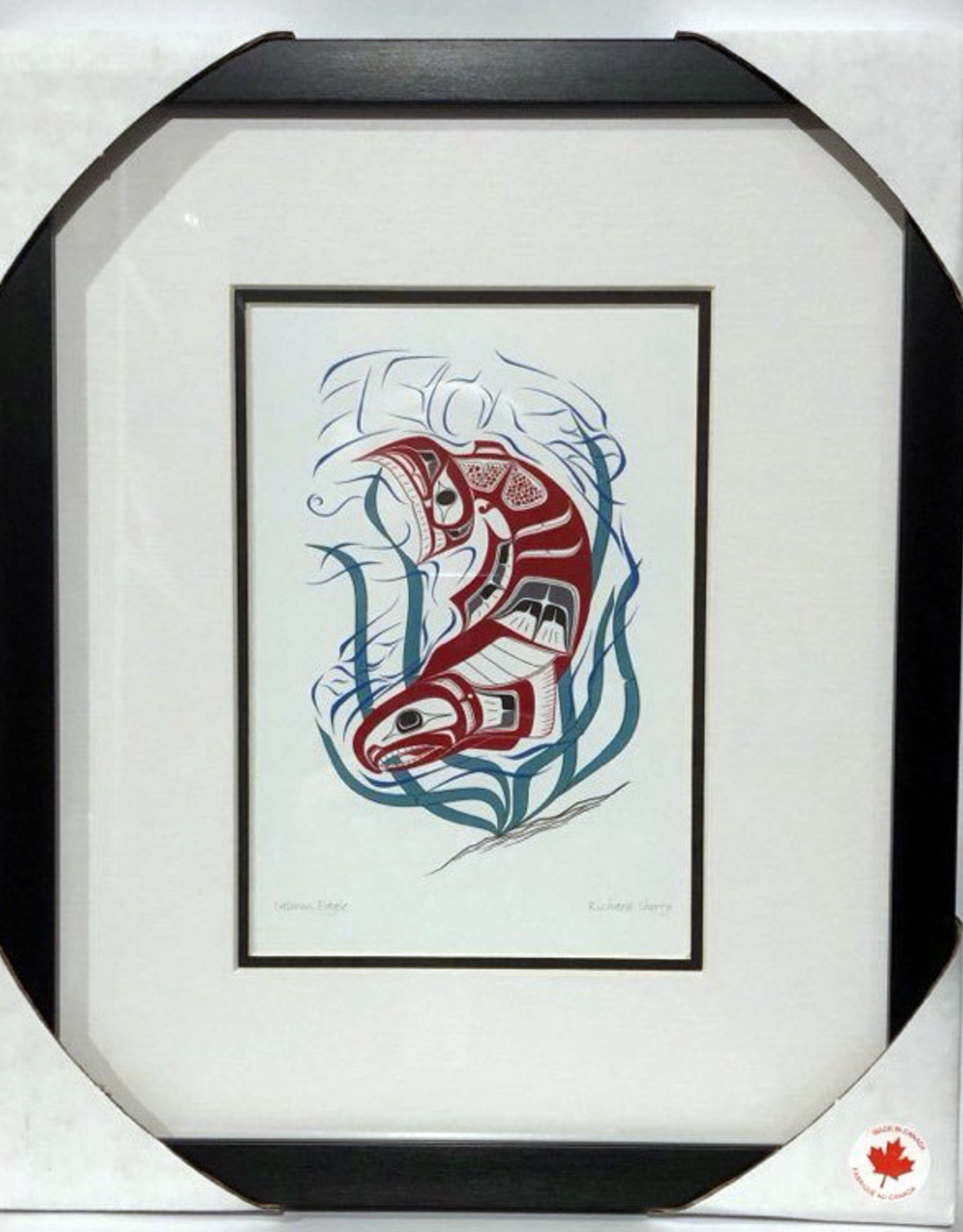Matted & Framed art cards -Salmon Eagle by Richard Shorty