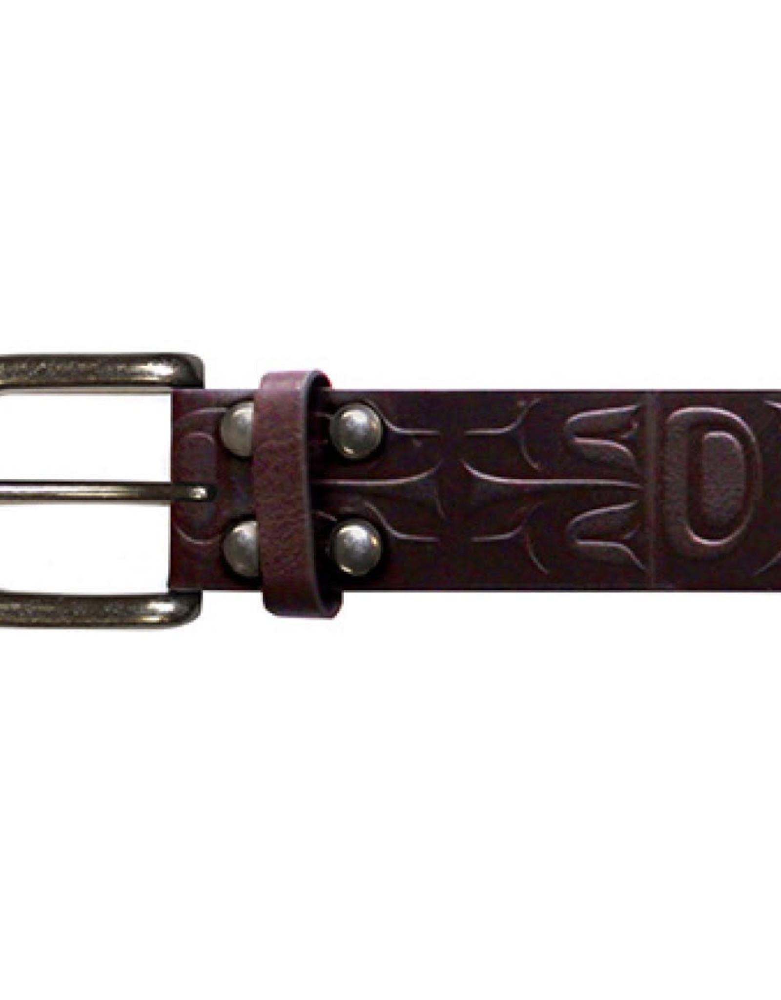 Leather Belt- Eagle by Corey Bulpitt