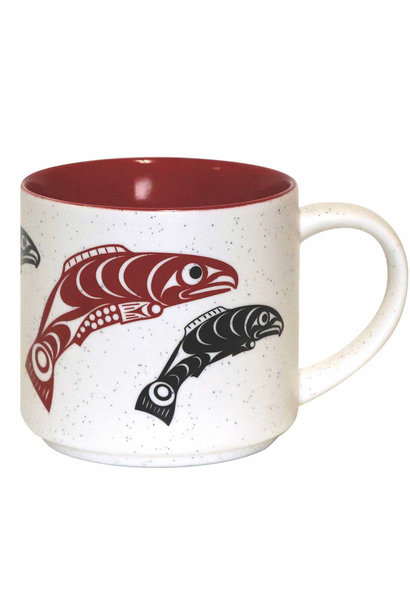 16oz Ceramic mug Salmon