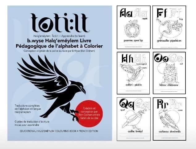 Alphabet Colouring Book *FRENCH* - Halq'emeylem Educational by. B.wyse-1