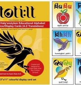 "Alphabet Education card set 8.5 x 11"" - Halq'emeylem Educational by. B.wyse"