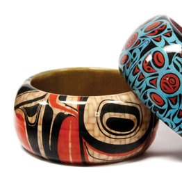 Large Wood Bangle- Kuunsil by Earnest Swanson
