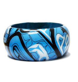 Large Wood Bangle-Intention by Mike Dangeli