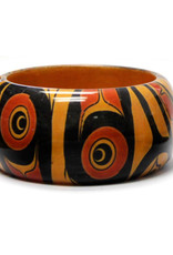 Large Wood Bangle-Eagles by Mike Dangeli