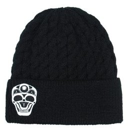 Knitted Toque - Embroidered Skull by James Johnson