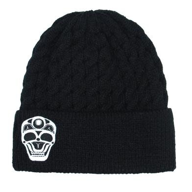 Knitted Toque - Embroidered Skull by James Johnson-1