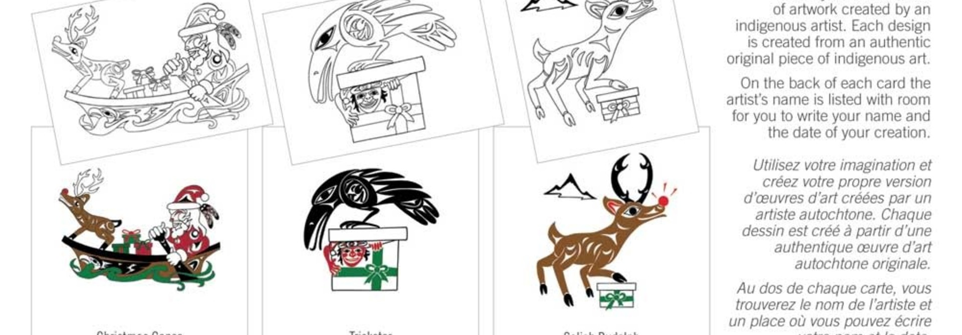 Boxed Card set- Holiday Colouring Cards by Doug LaFortune