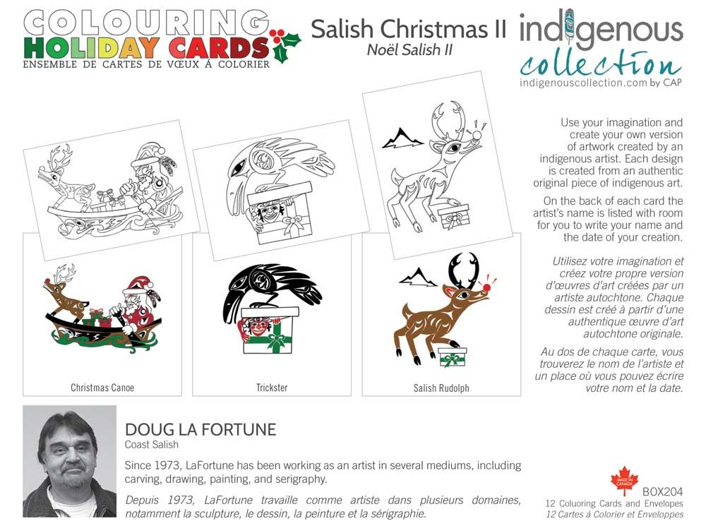 Boxed Card set- Holiday Colouring Cards by Doug LaFortune-1