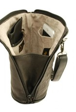 Deerskin Leather Compact Crossbody Bag Bear Box-Teal