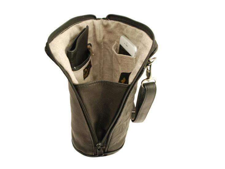 Deerskin Leather Compact Crossbody Bag Bear Box-Teal-2