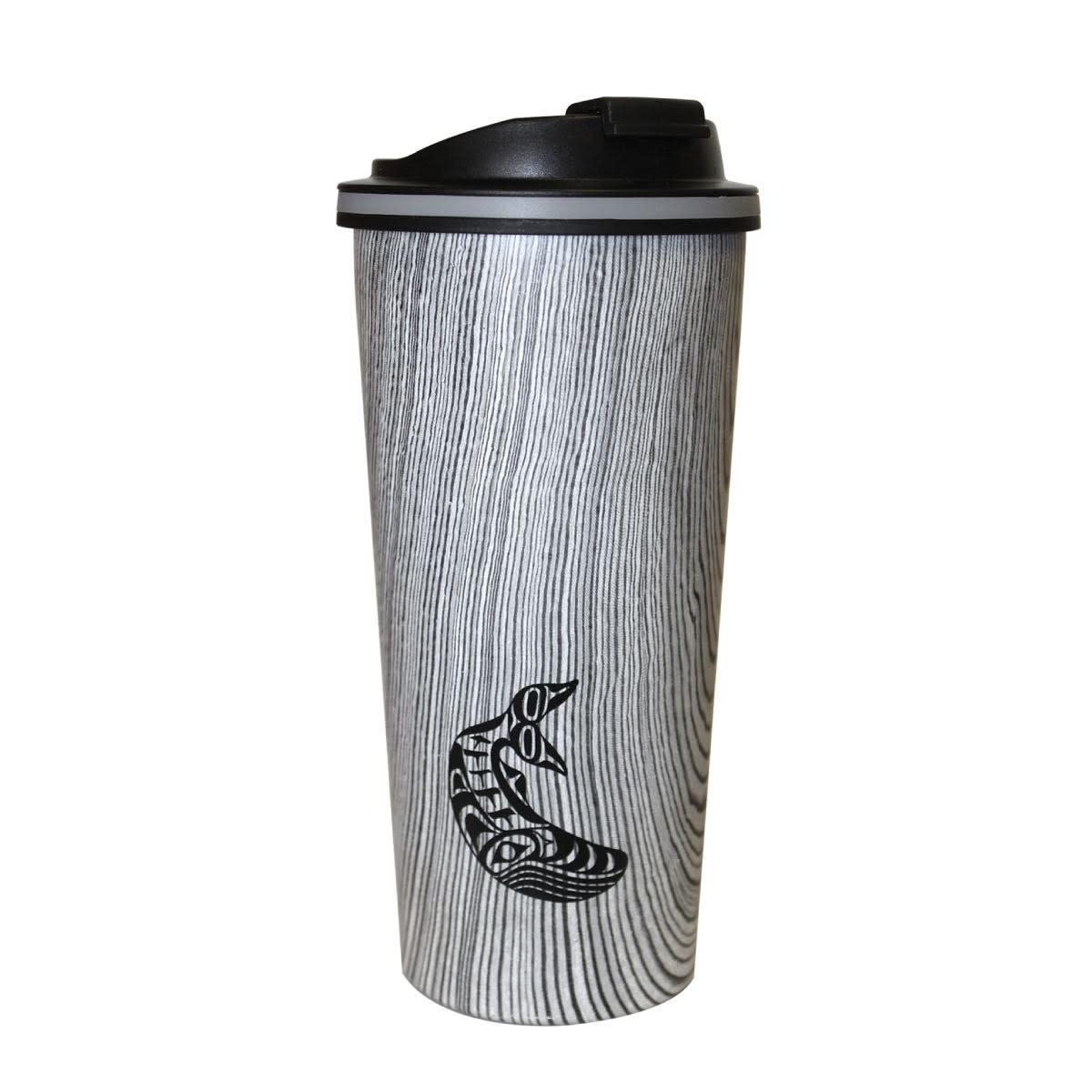 Travel Mug- Wood Grain style.-1